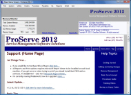 Pest Control Software - ProServe 2012 Main Menu Screen
